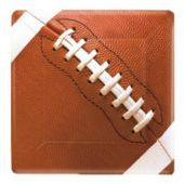"Football Fan 7"" Square Plates - 8 Pack"