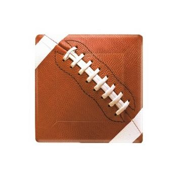 "FOOTBALL FAN 7"" SQUARE PLATES"