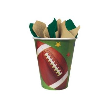 FOOTBALL FAN 9 oz. CUPS