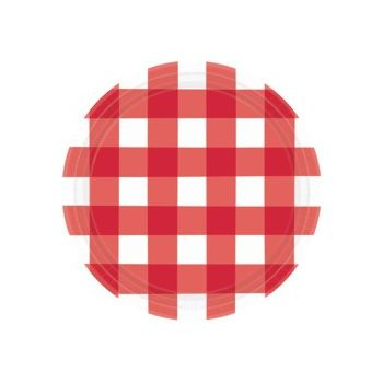 "RED GINGHAM 10.5"" PLATES"