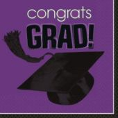 Purple Graduation Lunch Napkins