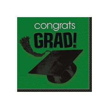 Green Graduation Lunch Napkins