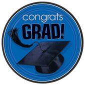"""Blue Graduation 7"""" Plates - 18 Per Unit"""