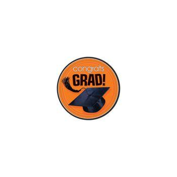 "Orange Graduation 7"" Plates"