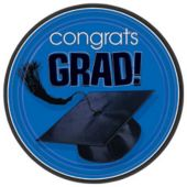 "Blue Graduation 9"" Plates - 18 Pack"