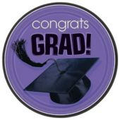 "Purple Graduation 9"" Plates - 18 Per Unit"