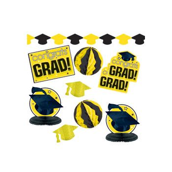 Yellow Graduation Decorating Kit