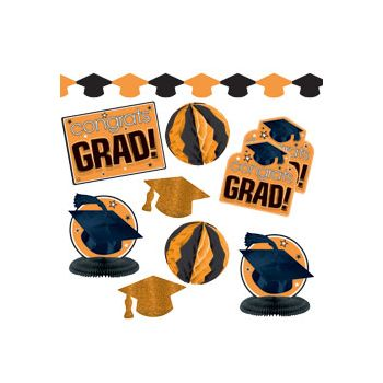 Orange Graduation Decorating Kit