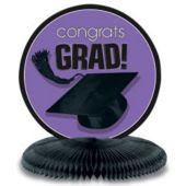 "Purple Graduation 10"" Centerpiece"