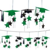 Green Graduation 3D 12' Garland