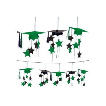 Green Graduation  3D Garland