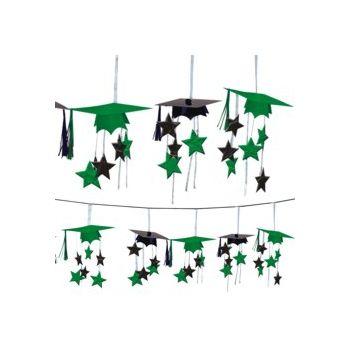 Green Graduation  3D Garland