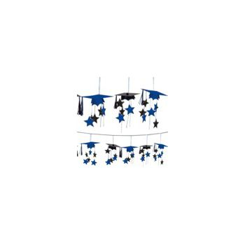 Blue Graduation 3D Garland