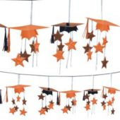 Orange Graduation 3D Garland