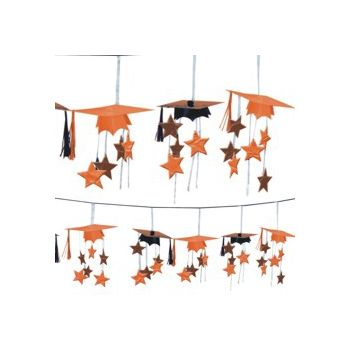 Orange Graduation 3D Garland