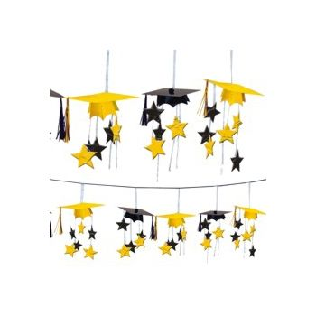 Yellow Graduation 3D Garland