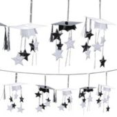Black & White 3D Grad Garland