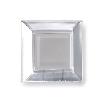 "CLEAR PLASTIC  8"" SQUARE PLATES"