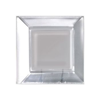 "CLEAR PLASTIC 10 34"" SQUARE PLATES"