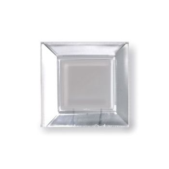 "CLEAR PLASTIC 6.5"" SQUARE PLATES"