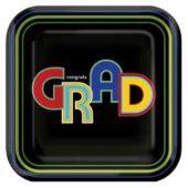 "Graduation Circles 9"" Plates - 8 Pack"