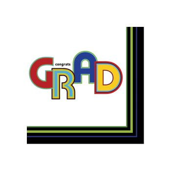 GRAD CIRCLES DINNER NAPKINS