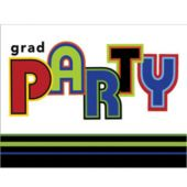Grad Circles Invitations - 8 Pack