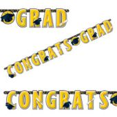 Yellow Graduation Letter Banner