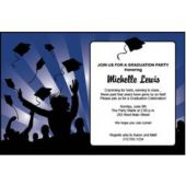 Dark Blue Graduation Invitations