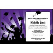 Graduation in Purple Personalized Invitations