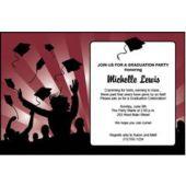 Graduation In Maroon Personalized Invitaions