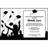 Graduation in White Personalized Invitations