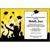 Graduation in Yellow Personalized Invitations