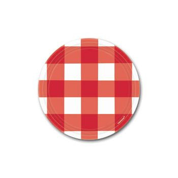 "RED GINGHAM 7"" PLATES"