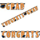 Orange Graduation Letter Banner