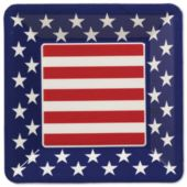 Patriotic Square Plate