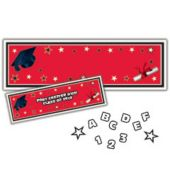Red Graduation Jumbo Banner Decoration