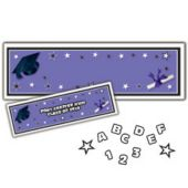 Purple Graduation Jumbo Banner