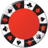"Card Night 9"" Plates - 8 Per Unit"