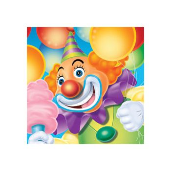 BIG TOP CIRCUS BEVERAGE NAPKINS