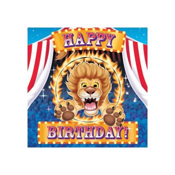 BIG TOP CIRCUS BIRTHDAY NAPKINS