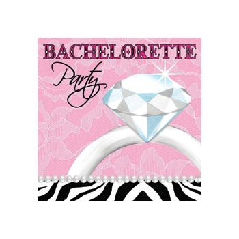 Bachelorette Bling Beverage Napkins