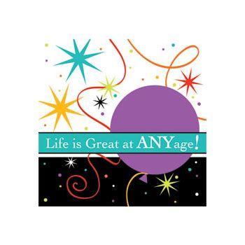 LIFE IS GREAT BEVERAGE NAPKINS