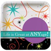 "Life Is Great 7"" Plates - 8 Per Unit"