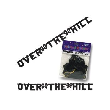 OVER THE HILL LETTER BANNER