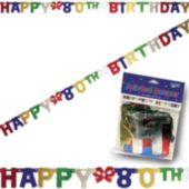 80th Birthday Banner Decoration