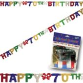 70th Birthday Banner Decoration