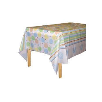 BLUE TINY TOES TABLE COVER