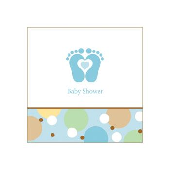 BLUE TINY TOES LUNCH NAPKINS