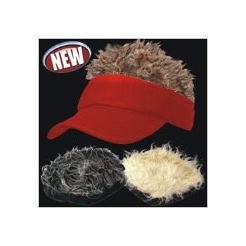 WACKY VISOR RED VISOR 3 HAIR STYLES